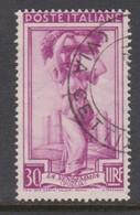 Italy Republic S 758 1955-57 Workers,Watermark Stars,30 Lire,used - 6. 1946-.. Republic