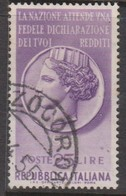 Italy Republic S 778 1955 Taz Propaganda,used - 6. 1946-.. Republic