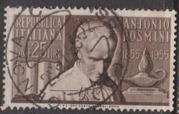 Italy Republic S 781 1955 Centenary Death Of Antonio Rosmini,used - 6. 1946-.. Republic