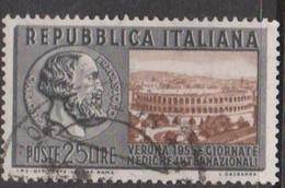 Italy Republic S 782 1955 International Medical Congress,used - 6. 1946-.. Republic