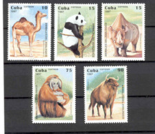 Cuba 1997 Zoo Animals MNH Scott 3808-3812 Value $3.45 - Animalez De Caza