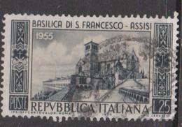 Italy Republic S 783 1955 7th Centenary St.Francis Basilica,used - 6. 1946-.. Republic