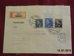 Lettre De 1942 à Destination De Wien En Recommandé - Bohême & Moravie