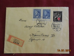 Lettre De 1943 à Destination De Konstanz En Recommandé - Bohême & Moravie