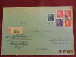 Lettre De 1943 à Destination De Raudnitz En Recommandé - Bohême & Moravie