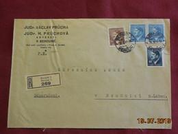Lettre De 1944 à Destination De Raudnitz En Recommandé - Bohême & Moravie