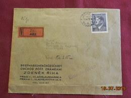 Lettre Chargée De 1943 à Destination De Augsburg - Bohême & Moravie