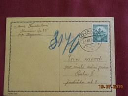 Carte De 1939 Au Depart De Bojanov - Bohême & Moravie