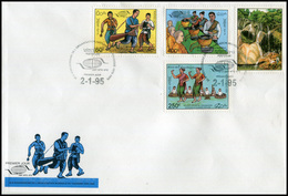 170-  Laos 1995  1160-1163  Sur FDC  WTO - Laos