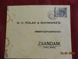 Lettre De 1941 à Destination De Zaandam Avec Bande De Censure De La Wehrmacht - Bohême & Moravie
