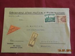 Lettre En Recommandé De 1940 à Destination De Pardubice - Bohême & Moravie