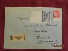 Lettre En Recommandé De 1941 à Destination De Prague - Bohême & Moravie