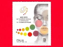 Nuovo - MNH - ITALIA - 2019 - 24° Congresso Mondiale Di Dermatologia - Logo - B - 1946-.. République