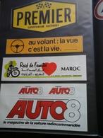 4 Autocollants  - Pub Premier Supertanium  Au Volant La Vue C 'est La Vie Raid Maroc & Auto 8 - Stickers