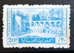 NO11 - Lebanon Fiscal Revenue Stamp 20p Blue -  Palace Of Beit EdDine - Lebanon