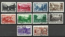 RUSSLAND RUSSIA 1949 Michel 1371 - 1380 Kurorte O - 1923-1991 UdSSR