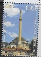 MONTENEGRO, 2019, MNH, MOSQUES, HUSEIN PASA MOSQUE, ARCHITECTURE,1v - Mosques & Synagogues