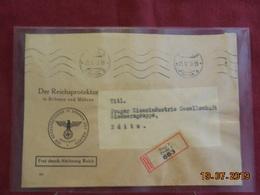 Lettre En Recommandé De 1943 à Destination De Zditz - Boemia E Moravia