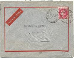 N° 373 LETTRE DAGUIN ANNONAY 1.1.1941 ARDECHE AVION TUNISIE - Postmark Collection (Covers)
