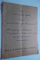 Etude De Notaire / Notaris SCHEYVEN Bruxelles ( Berckmans / Chevalier) Akte 1900 De Vente ( Voir Photo ) ! - Old Paper