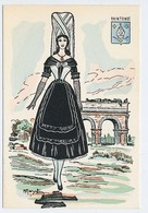 CPSM 10.5 X 15 Costume Folklorique SAINTONGE Femme Illustrateur Margotton - Illustrators & Photographers