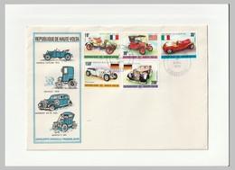 HAUTE VOLTA - 2 FDC - 1975 - AUTOMOBILES ANCIENNES - Automobili