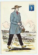 CPSM 10.5 X 15 Costume Folklorique SAINTONGE Homme Illustrateur Margotton - Illustrators & Photographers