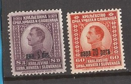 1924 174-75 KOENIG ALEXANDER OVERPRINT LUKS  MNH - 1931-1941 Regno Di Jugoslavia