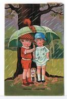 CPA - COUPLE D'ENFANTS - HEUREUX CONTRETEMPS - 1900-1949
