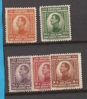 1923 169-73  KOENIG ALEXANDER  LUKS  MNH - 1931-1941 Regno Di Jugoslavia