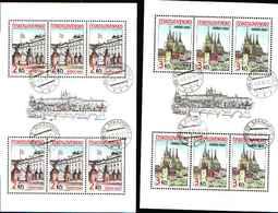 5938bis) Cecoslovacchia 1985 Tesori Di Praga Serie Completa Usata In 2 Minifogli - Usati