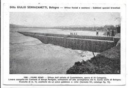 """Bologna - Ditta Giulio Serrazanetti """"Difese Fluviali E Montane - Gabbioni Speciali Brevettati"""". Casteldebole 1908 Reno. - Bologna"""