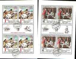 5941BIS ) Cecoslovacchia 2737Klb-2741Klb 5  Minifogli -usati- 1983 Arte-quadri - Cecoslovacchia