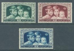 BELGIQUE - 1935 - MNH/*** LUXE - ENFANTS ROYAUX KONINGSKINDEREN - COB 404-406 - Lot 19959 - Unused Stamps