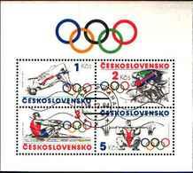 5943BIS ) CICLISMO: 1984 CECOSLOVACCHIA Olimpiadi Mini Foglio Usato - Cecoslovacchia