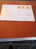 LETTRE EN RECOM  BRUXELLES ST GILLES POUR RUEIL  FRANCE Tb A SAISIR - Lettres & Documents