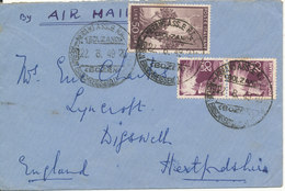 Italy Cover Sent To England 22-8-1949 - 6. 1946-.. Republic