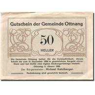 Billet, Autriche, Ottnang, 50 Heller, Mine, 1920, 1920-12-31, TTB+, Mehl:FS 718a - Austria