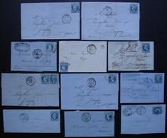 Auxerre (Yonne), Lot De 11 Lettres Classiques , Voir Photos ! - Storia Postale