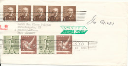 Japan Cover Sent To Germany Tokyo 22-8-1967 Sent Via Siberia (the Cover Is Cut In The Left Side) - FDC