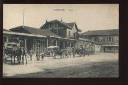 55 - VERDUN - LA GARE DE CHEMIN DE FER - ATTELAGES DE CHEVAUX - SANS EDITEUR - Verdun