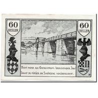Billet, Autriche, Schärding, 60 Heller, Pont, 1920, 1920-04-30, SPL, Mehl:951 - Austria