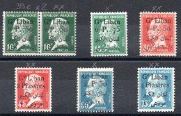 GRAND LIBAN - YT N° 39c à 44  - Neufs **/*  - Cote: 30,90 € - Great Lebanon (1924-1945)
