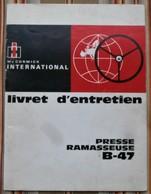 75 PARIS 19e  INTERNATIONAL HARVESTER  MC CORMICK Livret D Entretien PRESSES RAMASSEUSES 435 Et 445 - Tracteurs