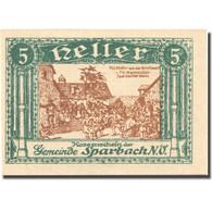 Billet, Autriche, Sparbach N'.O, 5 Heller, Village, SPL, Mehl:FS 1006a - Austria
