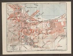 CARTE PLAN 1930 - ALGERIE ALGERIA MUSTAPHA - BASSINS De L'AGHA Des HYDRAVIONS La REDOUTE VILLA Du BARDO - Topographische Kaarten