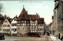 Cp Stuttgart In Bade Württemberg, Türmle Mit Wagnerstraße - Allemagne