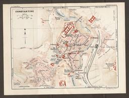 CARTE PLAN 1934 - ALGERIE ALGERIA CONSTANTINE - POUDRERIE MOULIN LAVIE MANSOURA CAVALERIE LAMORICIERE COUDIAT ATY - Topographische Kaarten