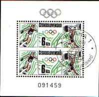 5944BIS ) Cecoslovacchia 2689- Bl.-76-. Olimpiadi, Calgary, Seoul, 1988 Mini Foglio Usato - Cecoslovacchia