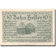 Billet, Autriche, Zell A/d Pram, 10 Heller, Maison, 1920 SPL Mehl:FS 1271a - Austria